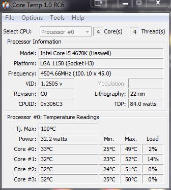 [DOSSIER] Overclocking d'un Intel core i5 4670K - 3° partie Coretemp-24h-4-5ghz