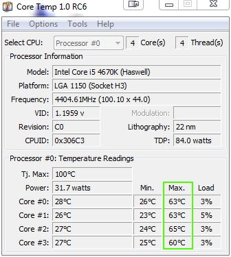 [DOSSIER] Overclocking d'un Intel core i5 4670K - 3° partie Coretemp-4-4ghz-a