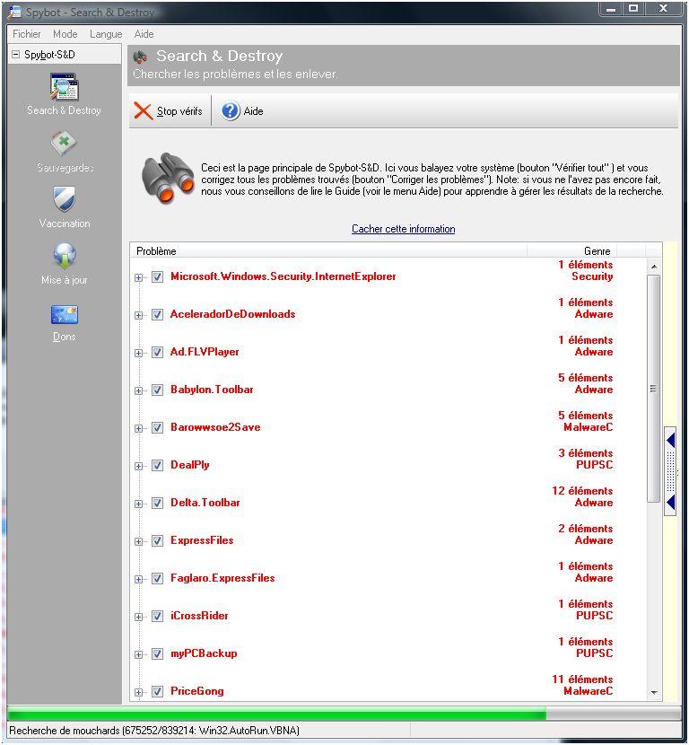 [DOSSIER]Protocole de nettoyage des indésirables (Spywares, Malwares, publicités intempestives...) Infections-pybot1