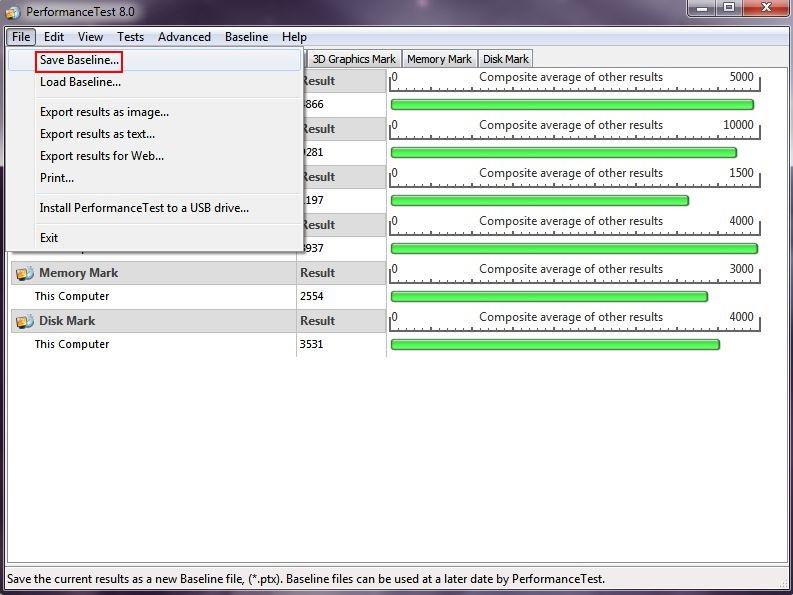 Puissance globale d'un PC Passmark10