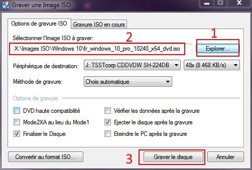 Installer W10 à partir d'un DVD ou d'une clé USB Cd-burner-2