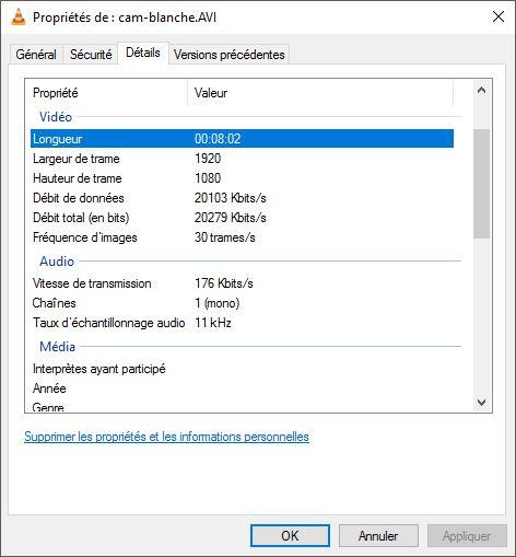 Comparatifs vidéos Full HD Caracs-cam-blanche
