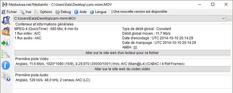 Comparatifs vidéos Full HD Caracs-cam-mimi-mi