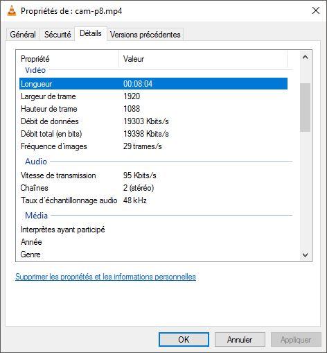 Comparatifs vidéos Full HD Caracs-cam-p8