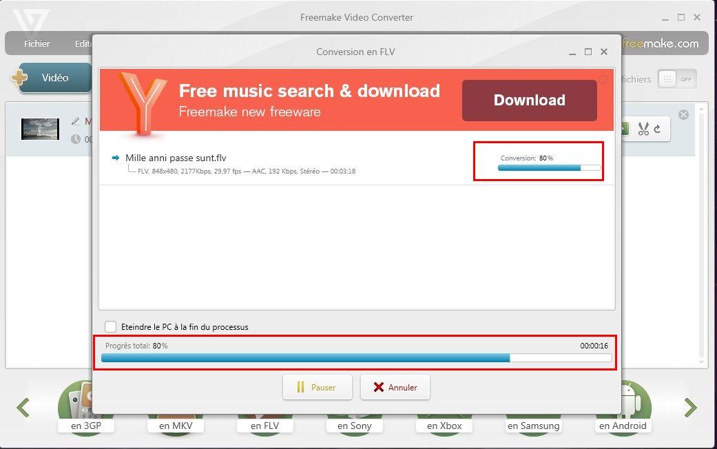 Conversion d'un fichier vidéo Freemake-08