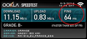 WIFI ou LAN ? Ping-wifi