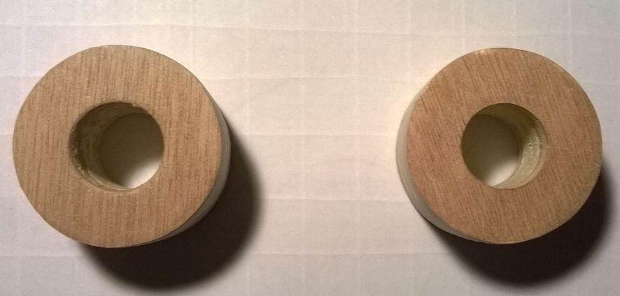 RÉCAPITULATIF : 5 méthodes pour réaliser l'axe de roulement 2-rondelles-moyeux-perces-16mm