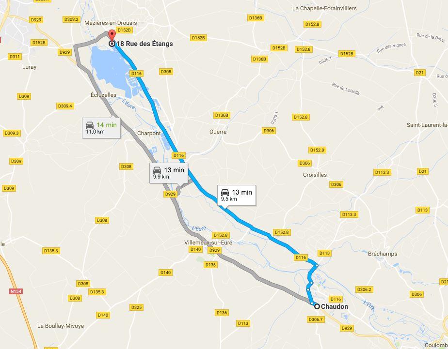 Descente de de l'Eure (12 km) Chaudon-ecluzelles