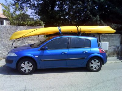 1 - Le transport du kayak (longues distances) Kayak-toit