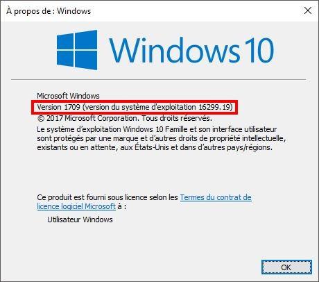 WINDOWS 10 1709 (installer, télécharger l'ISO et créer une clé ou DVD) W10-1709